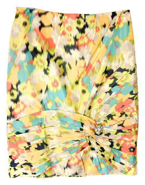 Yellow Multiple 40 'Poppy Field' Skirt