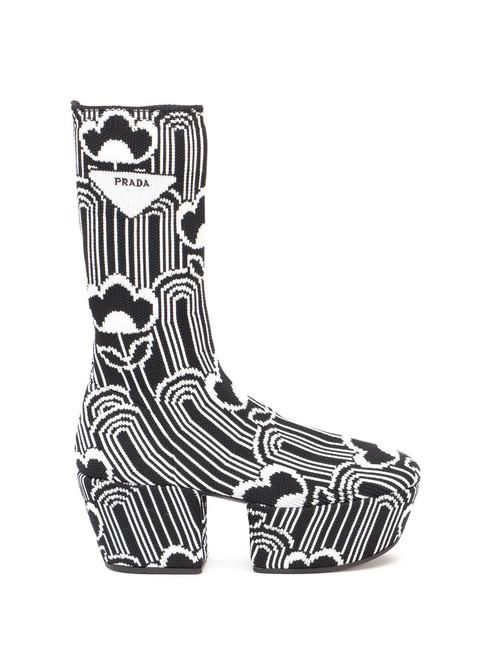 Multicolor Platform Polyamide Boots