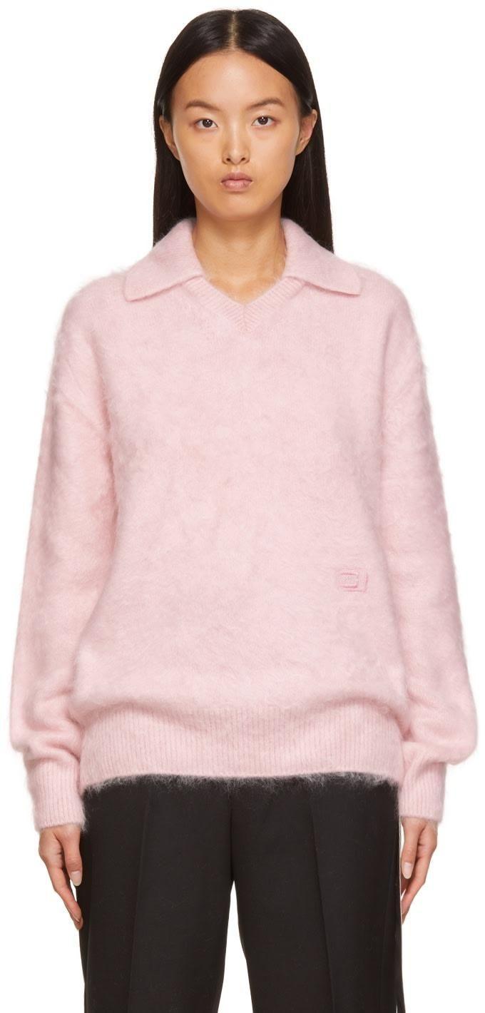 Brushed Cashmere Long-sleeve Polo