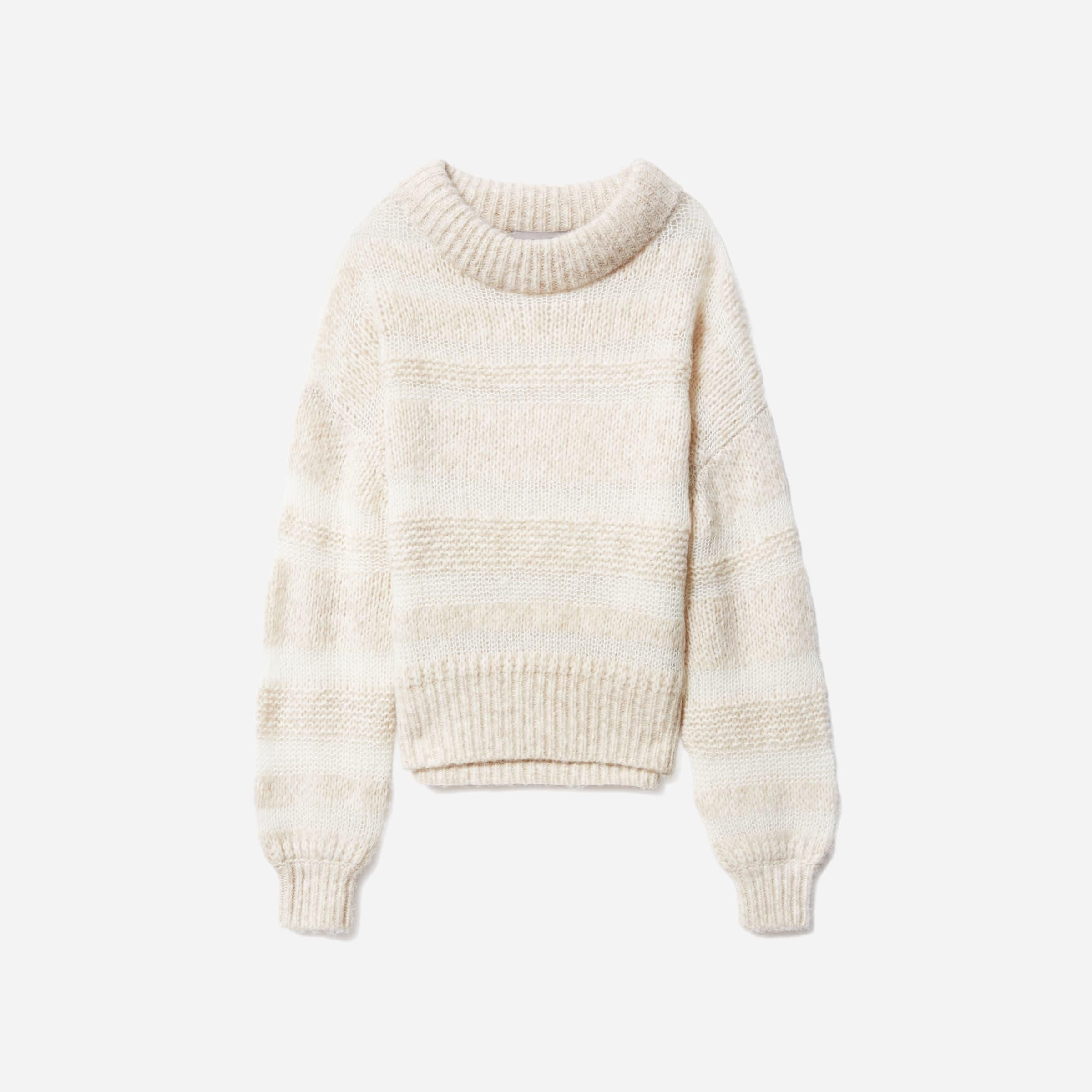 The Puff Sweater in Heathered Oat