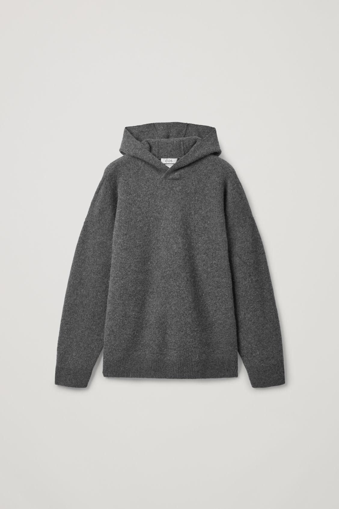 Oversized-fit Wool Hoodie