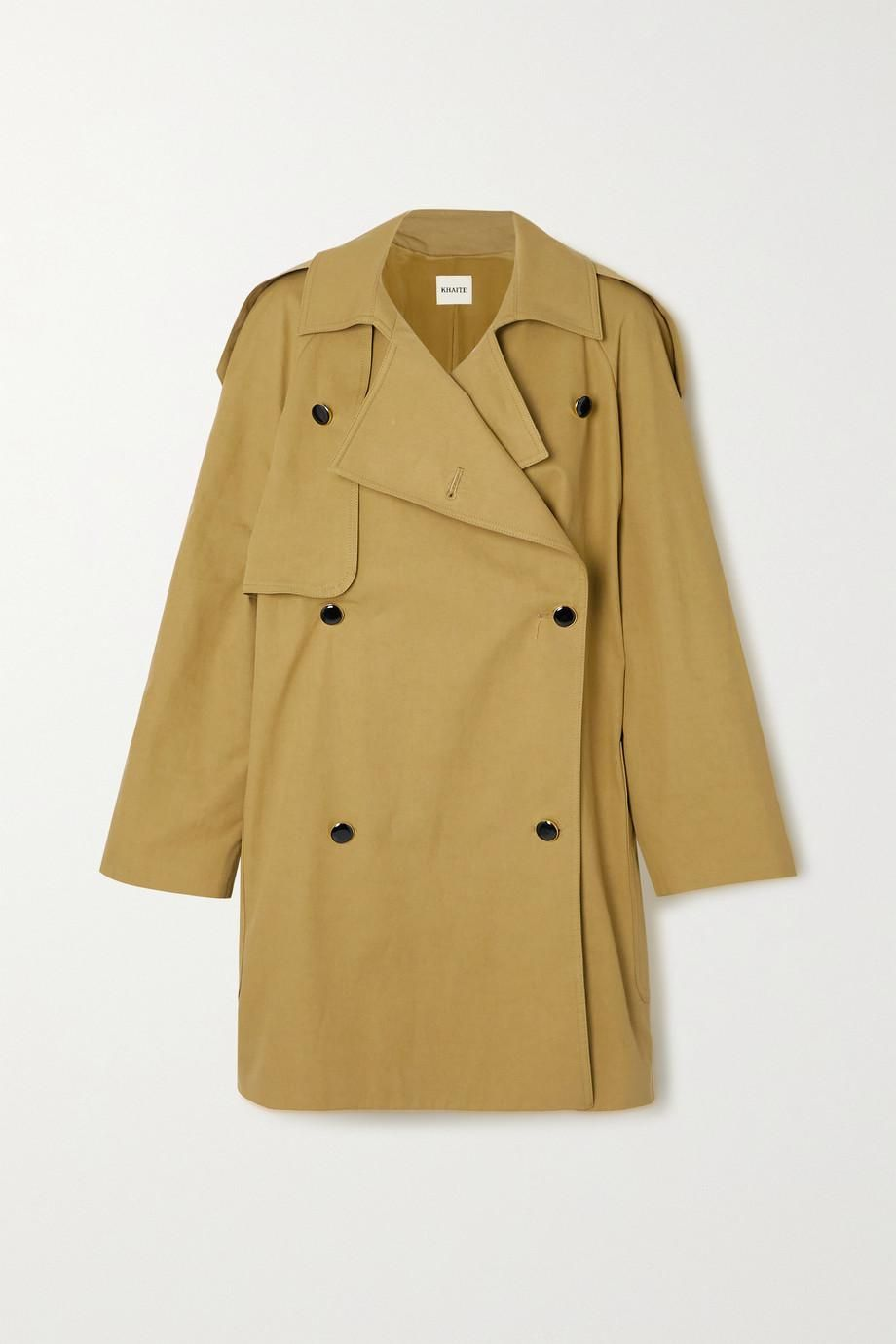 Eden Double-breasted Cotton Twill Trench Coat