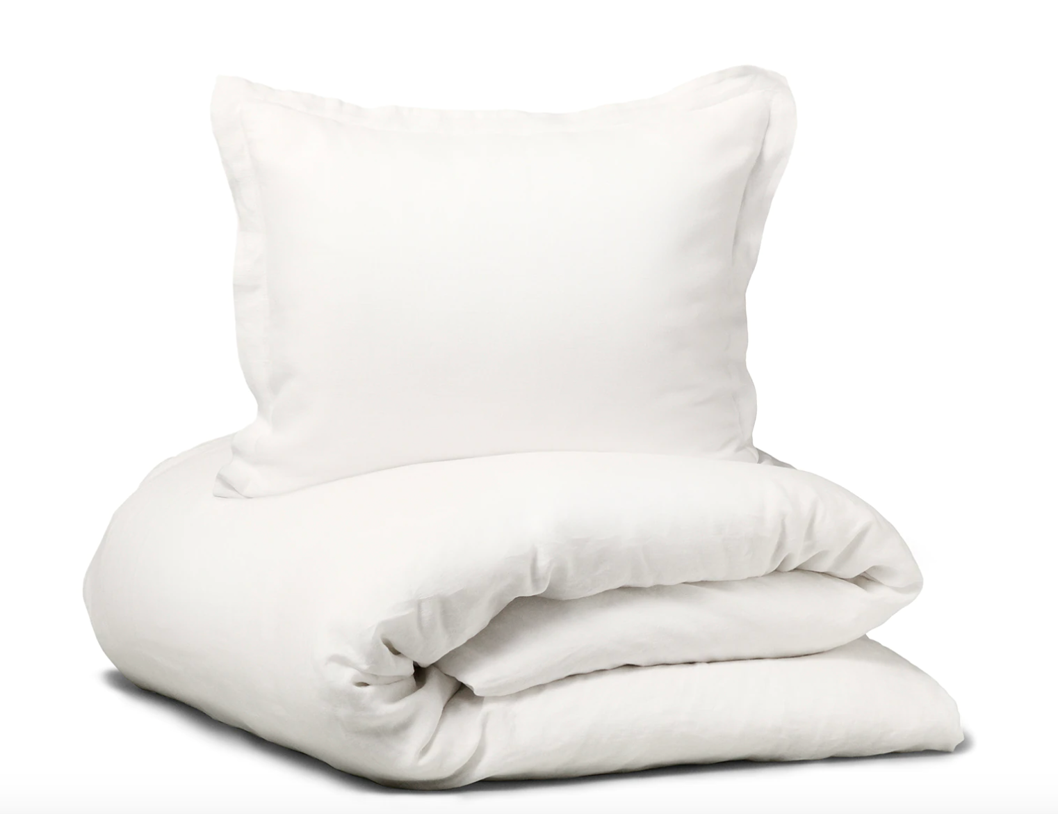 Satin Pure Bedsheets in White