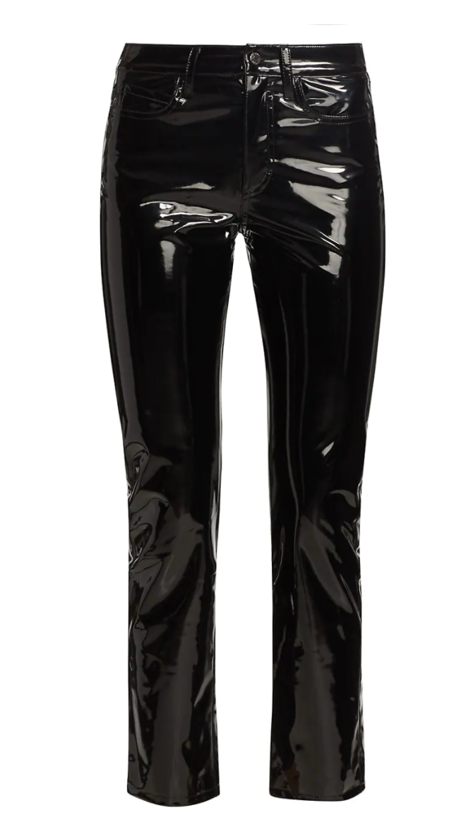 Patent Faux Leather Straight Pants