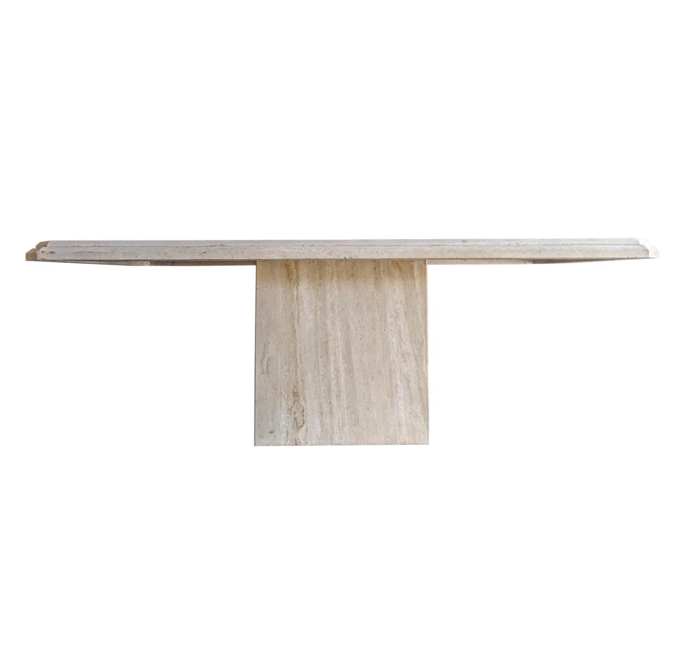 Minimalist Italian Travertine Dining Table