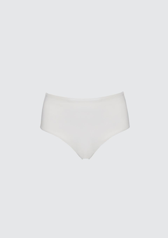 High Waist Bikini Briefs White