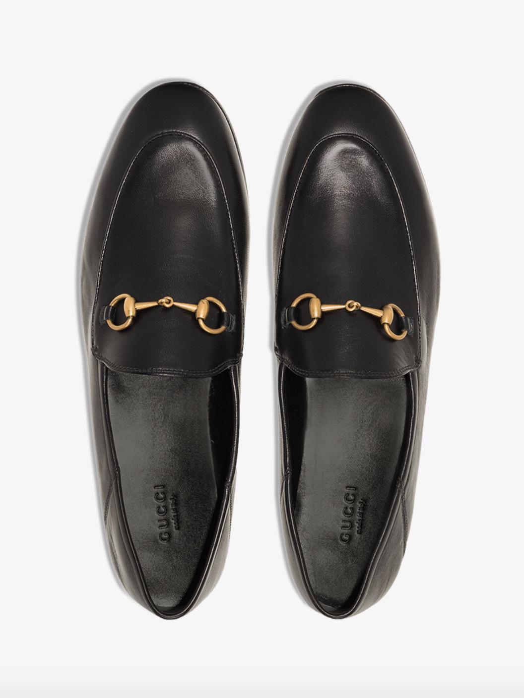 Black Horsebit Leather Loafers
