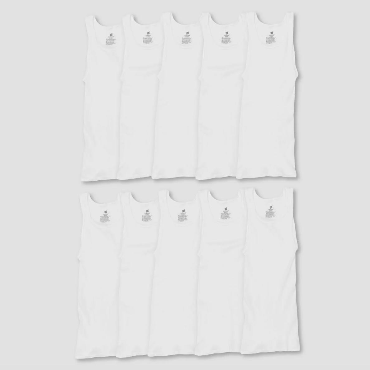 Men's Comfort Soft Super Value 10pk Tank Top