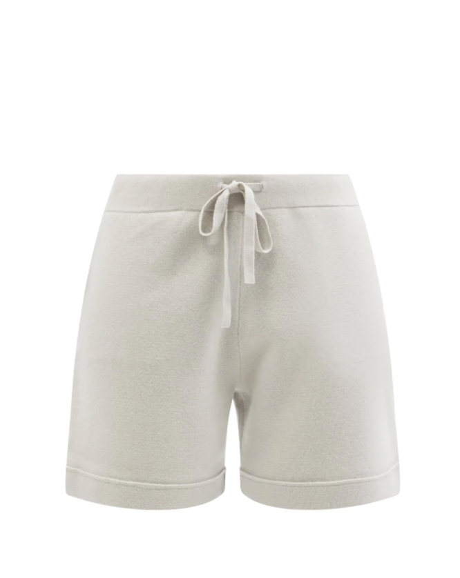 Straight-leg Knitted Wool Blend Shorts