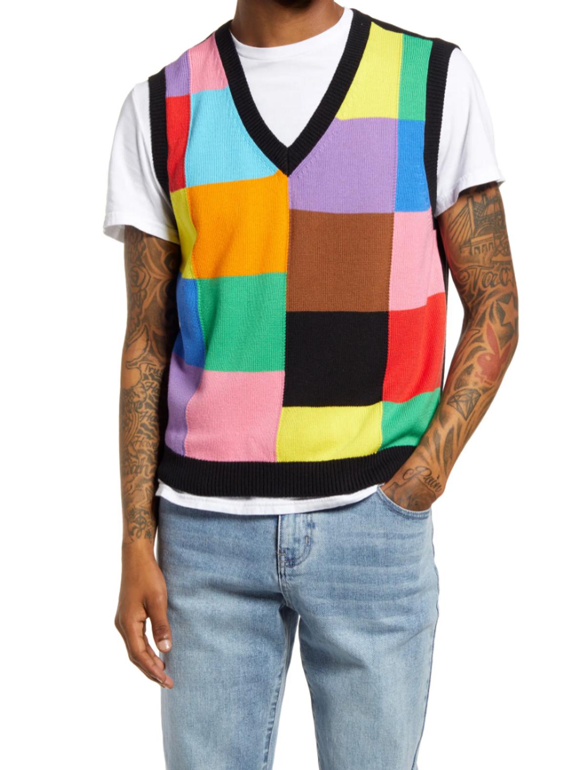 Gender Inclusive Pride Colorblock Sweater Vest