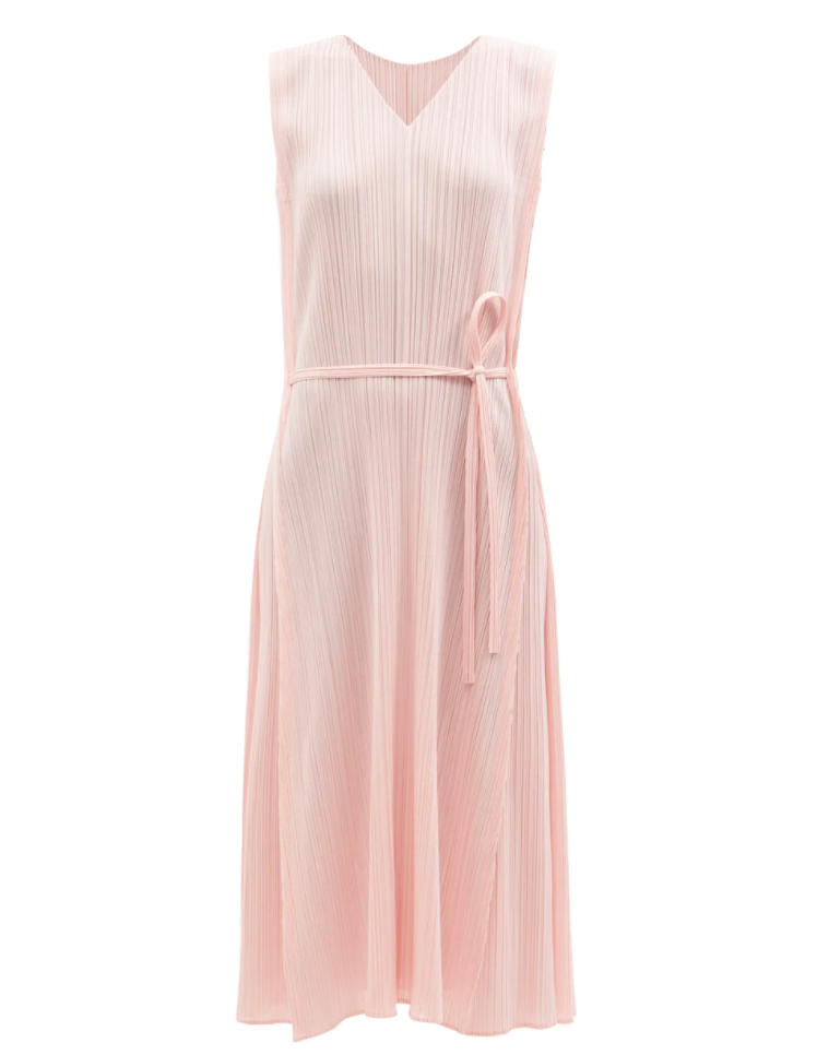 Technical Pleated A-line Dress