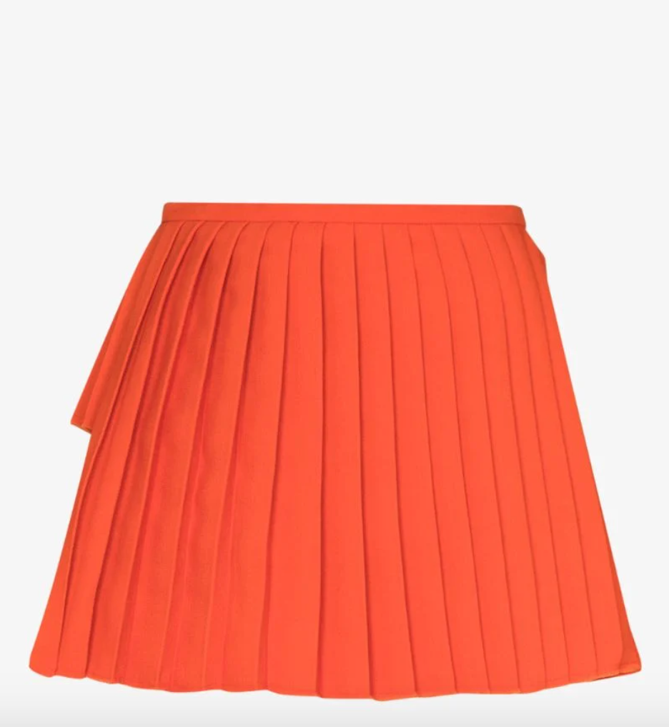 Narisha Pleated Front Mini Skirt