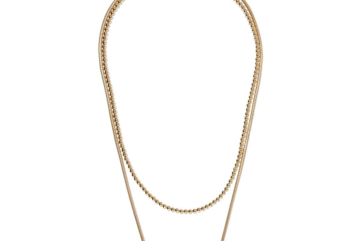 iris and ink mariam 18 karat gold plated sterling silver necklace