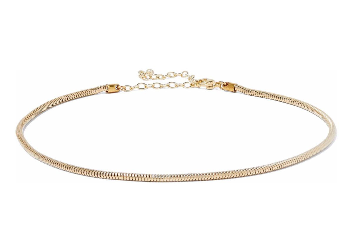iris and ink mary 18 karat gold plated sterling silver choker