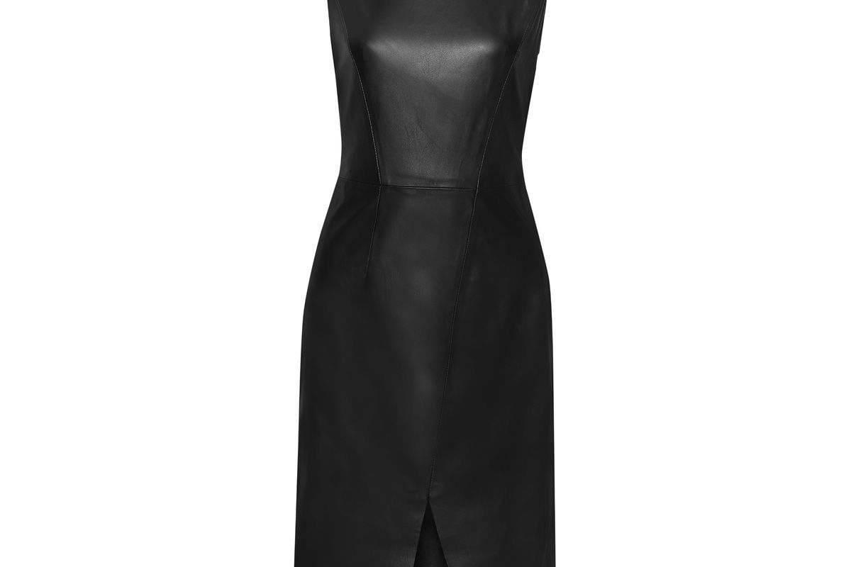 iris and ink toril split front leather dress