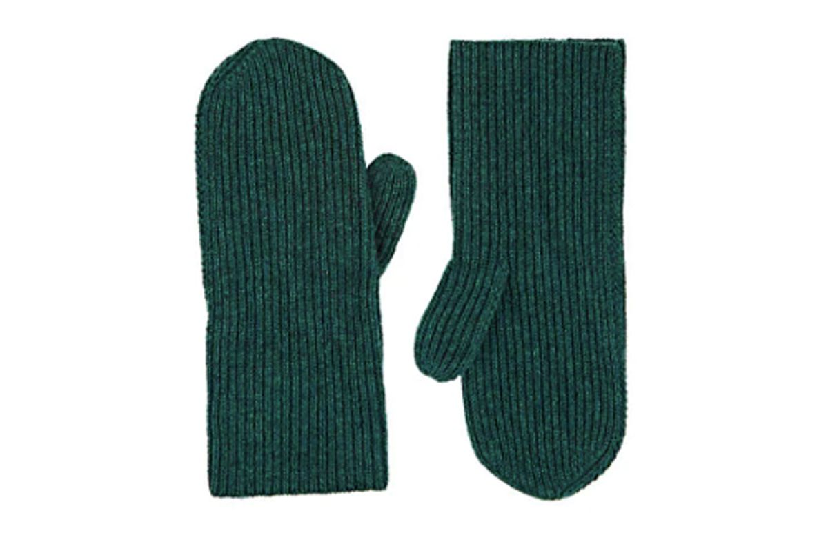 isabel marant chiraz rib knit cashmere mittens