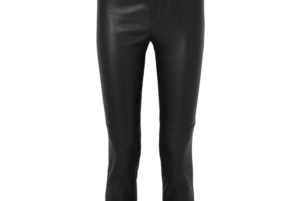 isabel marant mofira cropped leather skinny pants