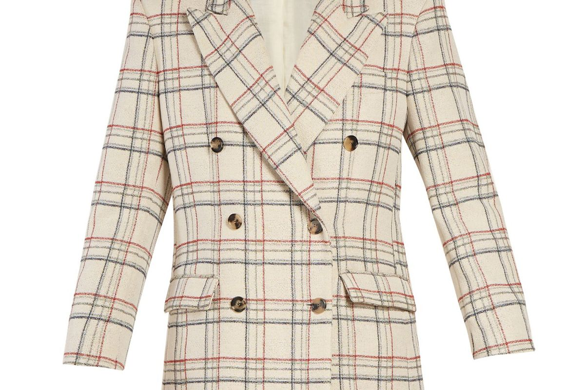 Telis Double-Breasted Checked Jacket