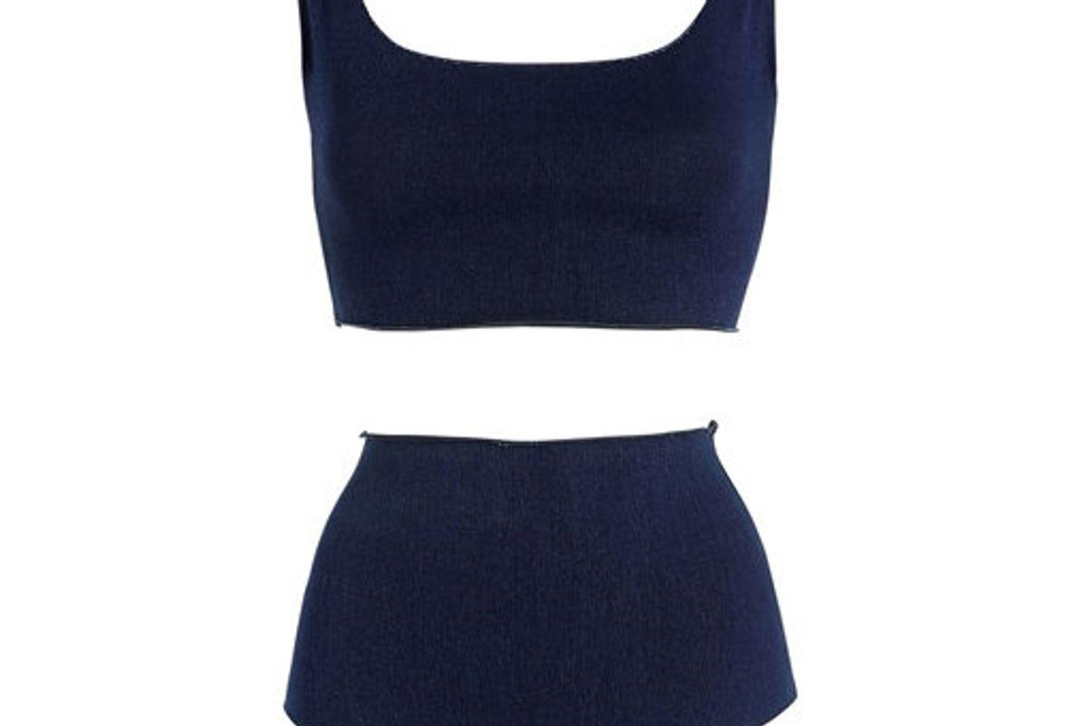Cotton Denim Lycra Blend Bikini