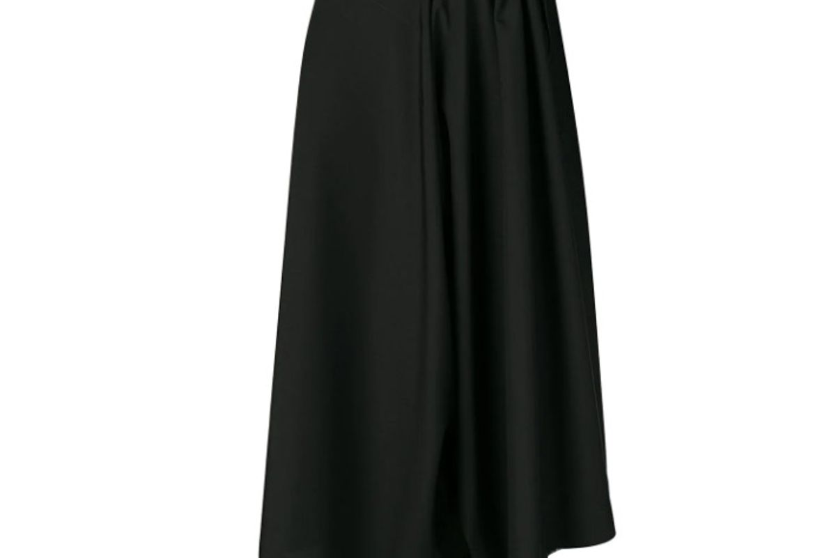 issey miyake cropped pleated trousers
