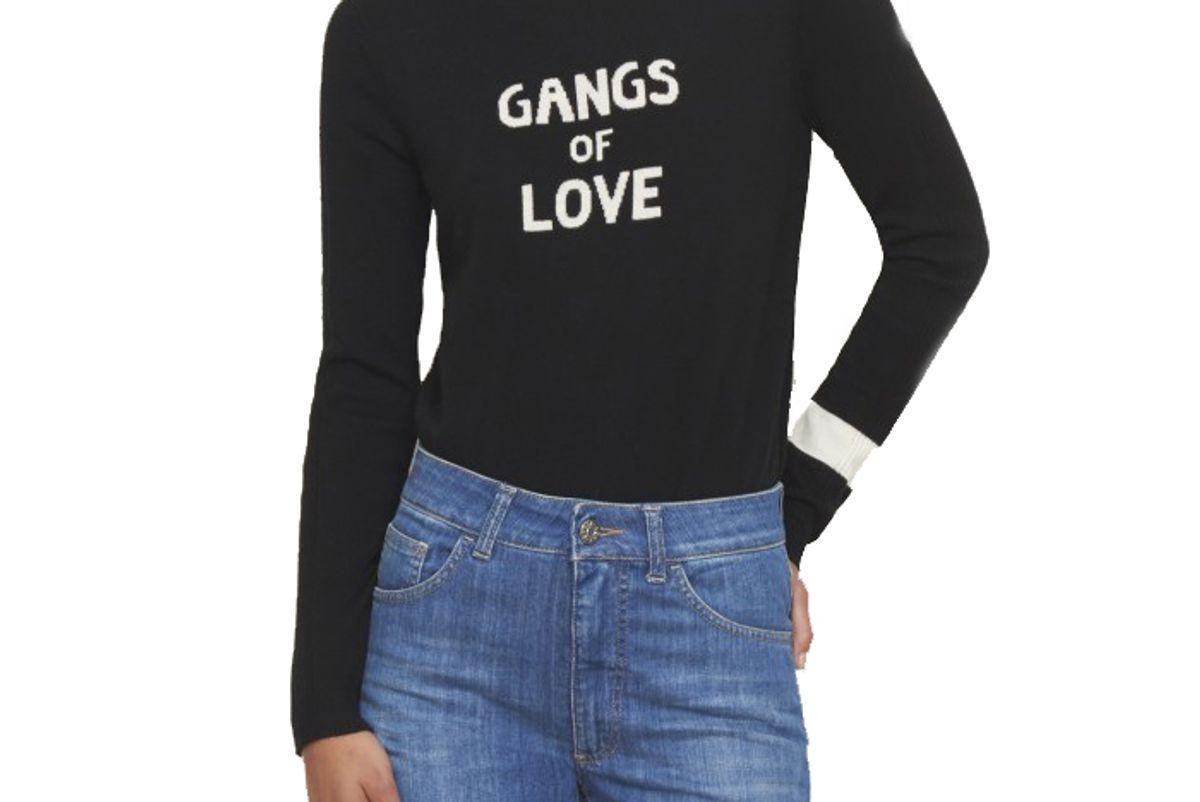 X Bella Freud Gangs of Love Jumper in Black