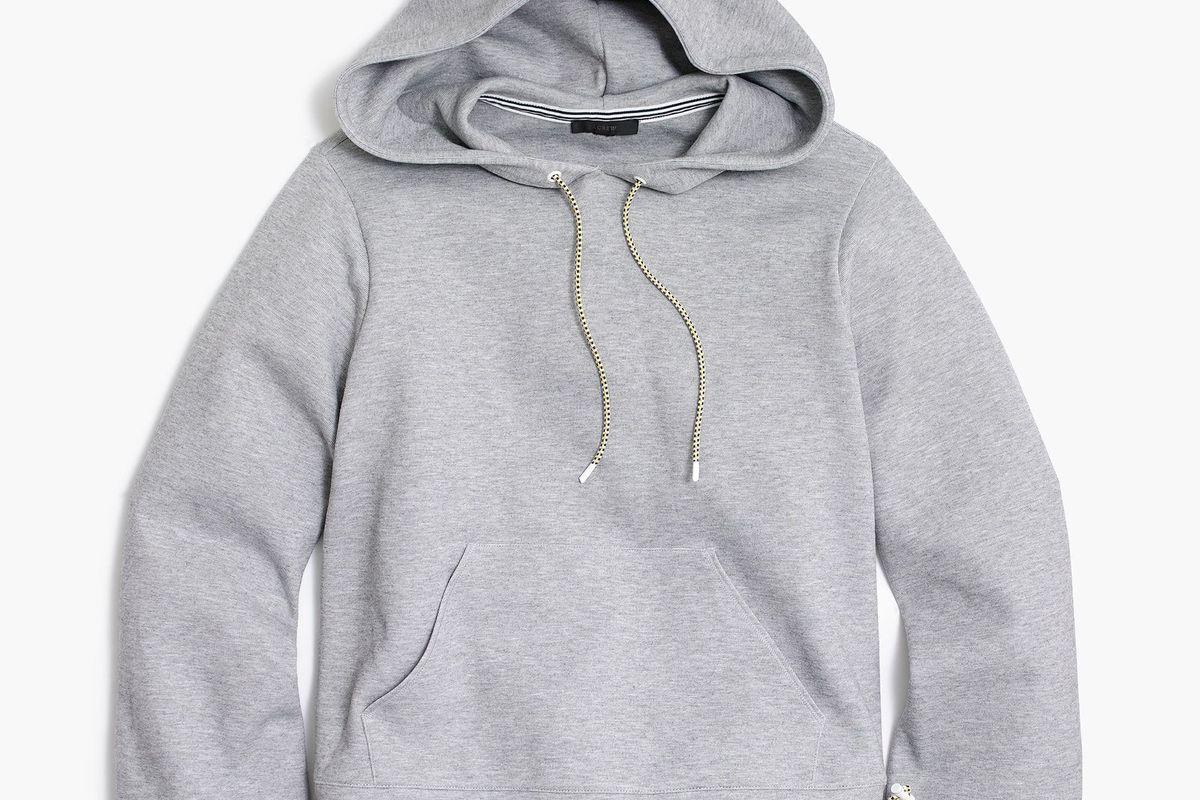 j. crew hooded cropped hoodie