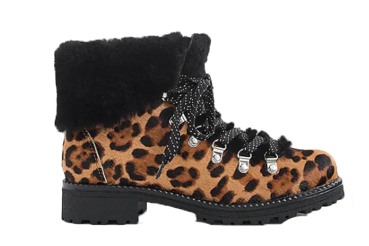 j crew nordic boots in leopard calf hair