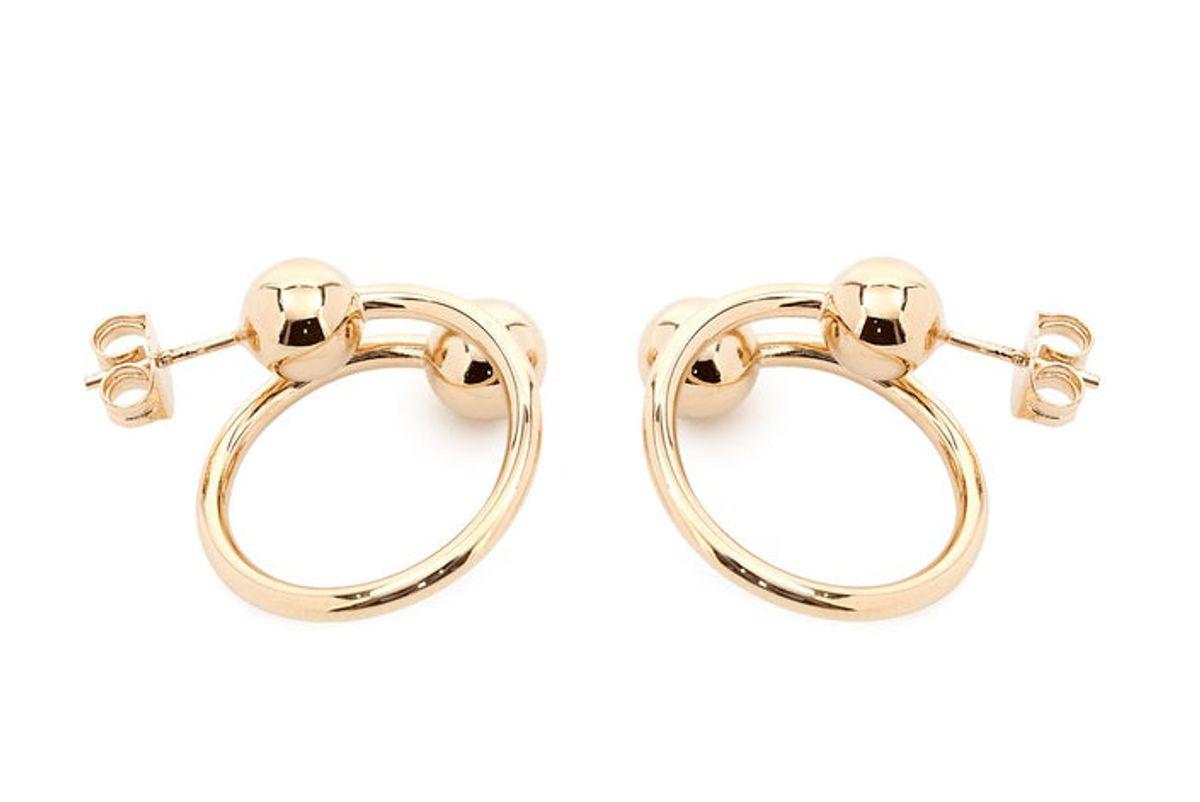 Sphere-End Hoop Earrings