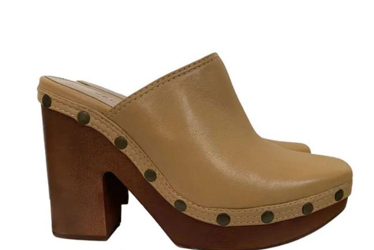 jacquemus sabah leather mule clogs