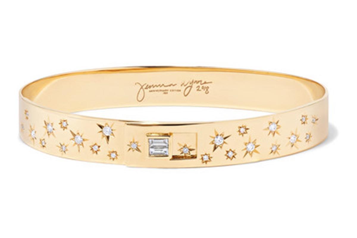 jemma wynne 18 karat gold diamond bracelet