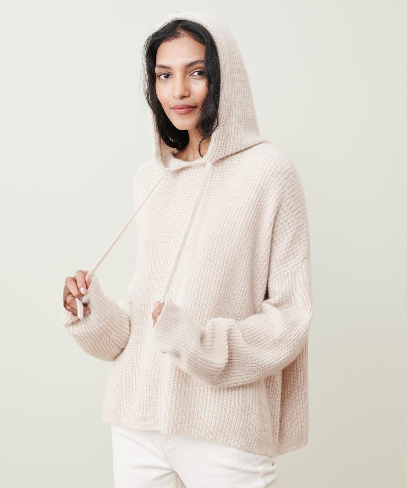 jenni kayne cashmere fisherman hoodie