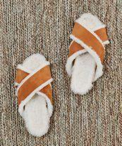 jenni kayne shearling lined crossover sandal