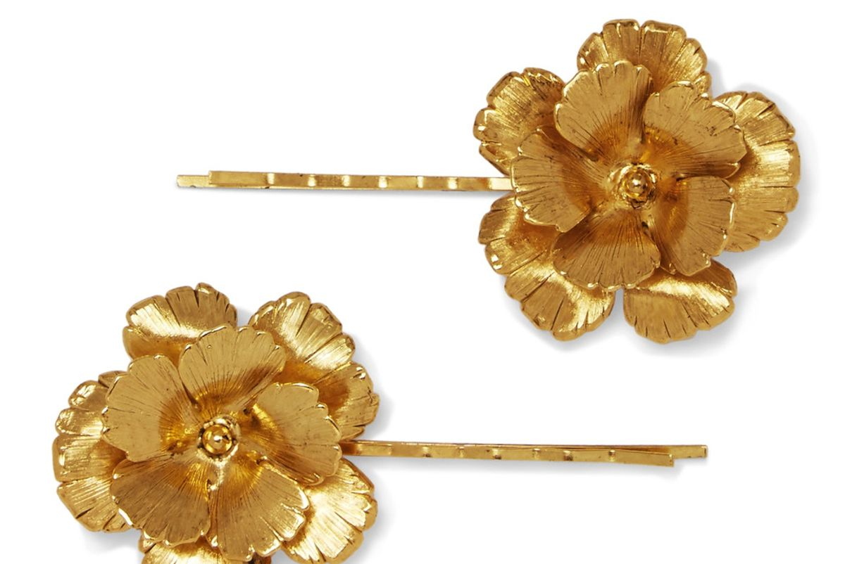 Set of Two Gold-Plated Hair Slides