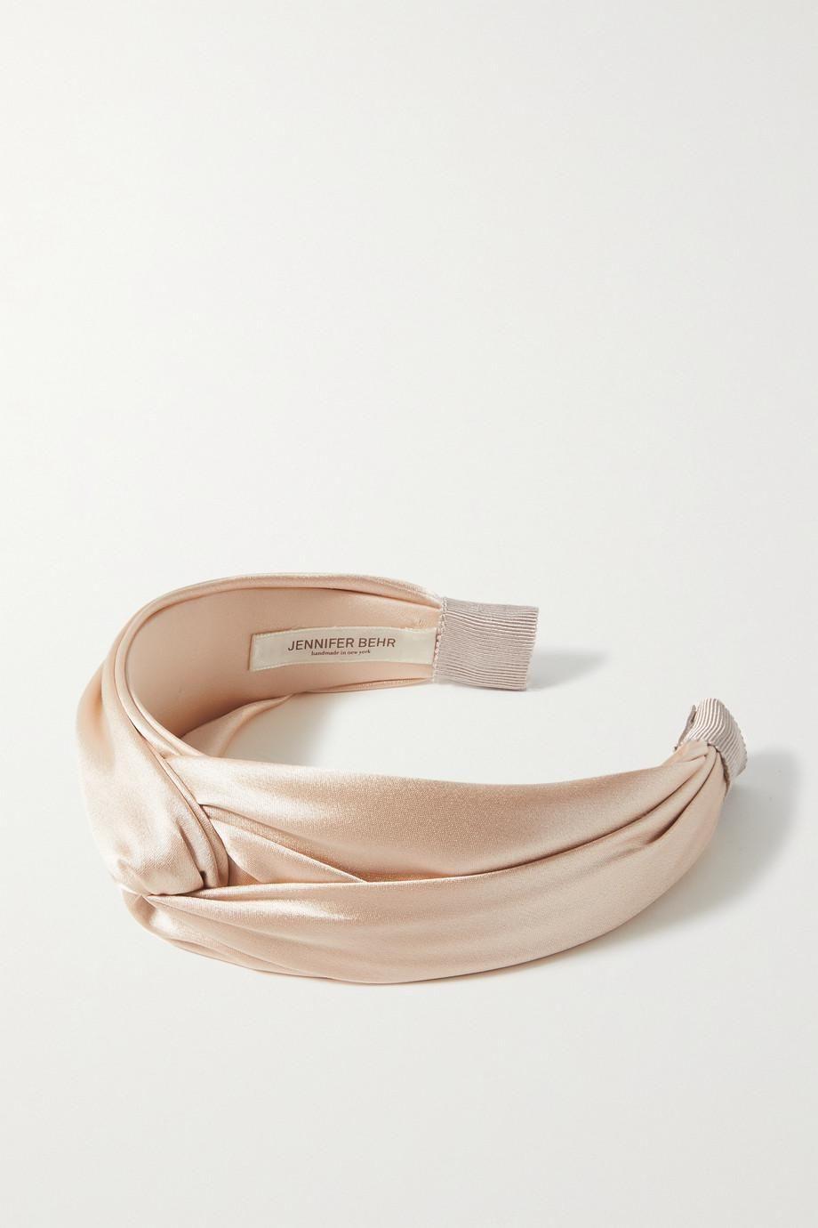 jennifer behr twist silk satin headband