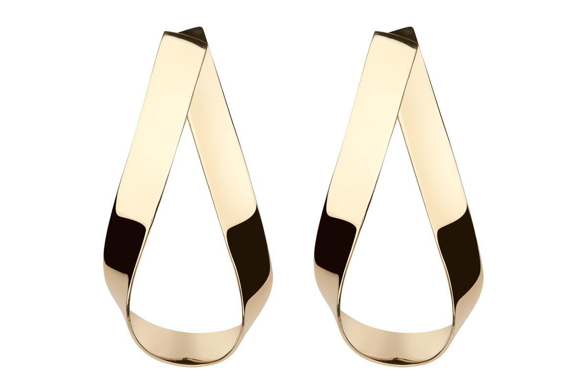 Script Doorknocker Earrings