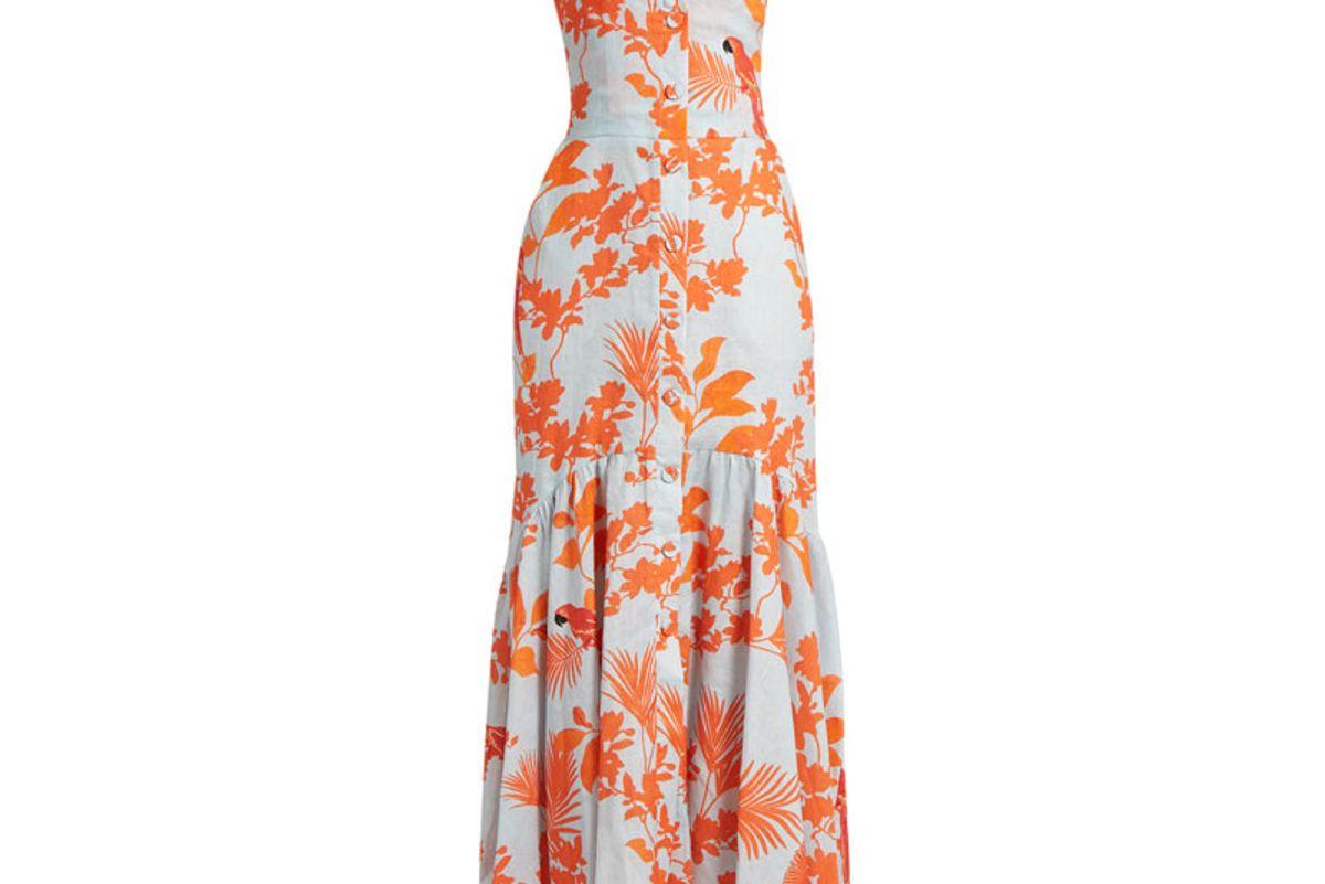 Playa de Belen Sweetheart-Neck Linen Dress