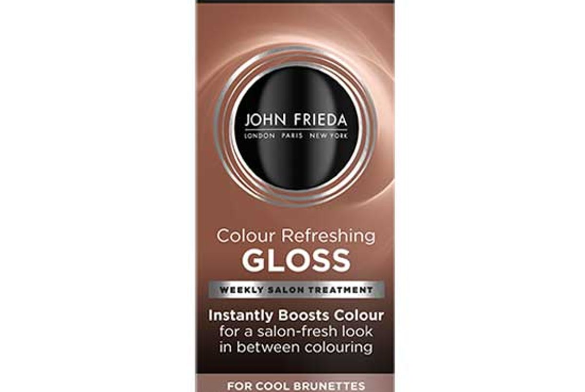 john freida color refreshing gloss cool brunette 6 ounce silky deep espresso brown hair treatment extend color ammonia and peroxide free