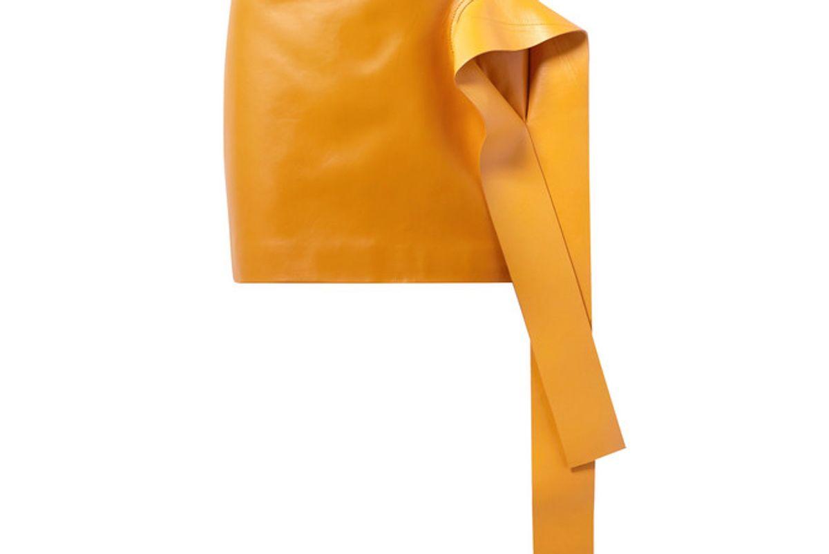 jw anderson draped leather mini skirt