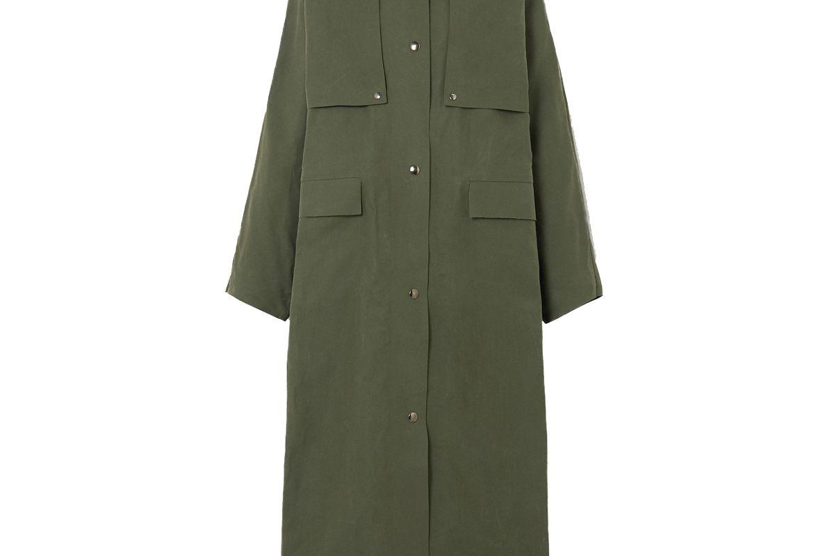 kassl edition wax reversible coated cotton coat
