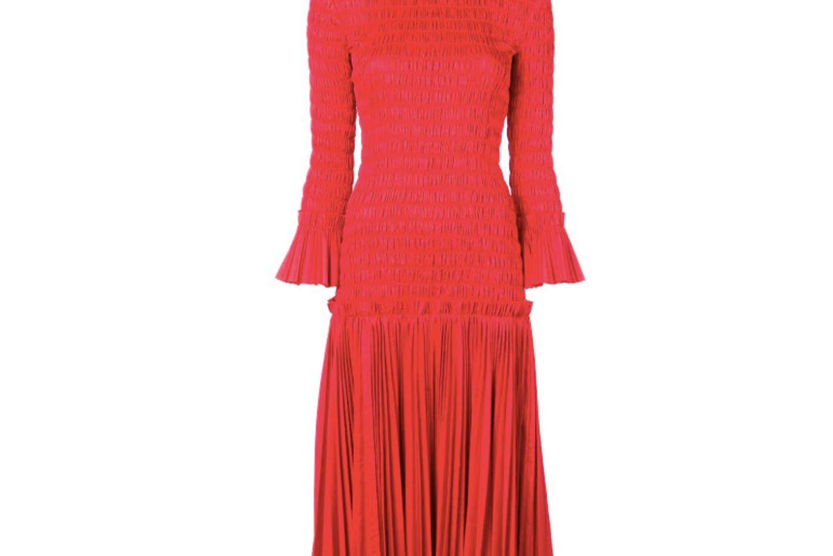 khaite ruched midi dress item