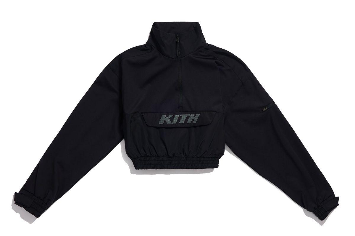 kith women theo track hybrid jacket