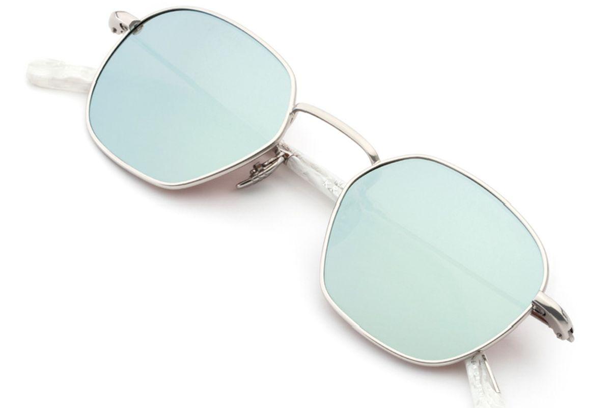 Ward Titanium White Linen Sunglasses