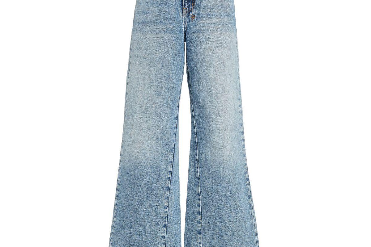 ksubi kicker rigid high rise wide leg jeans