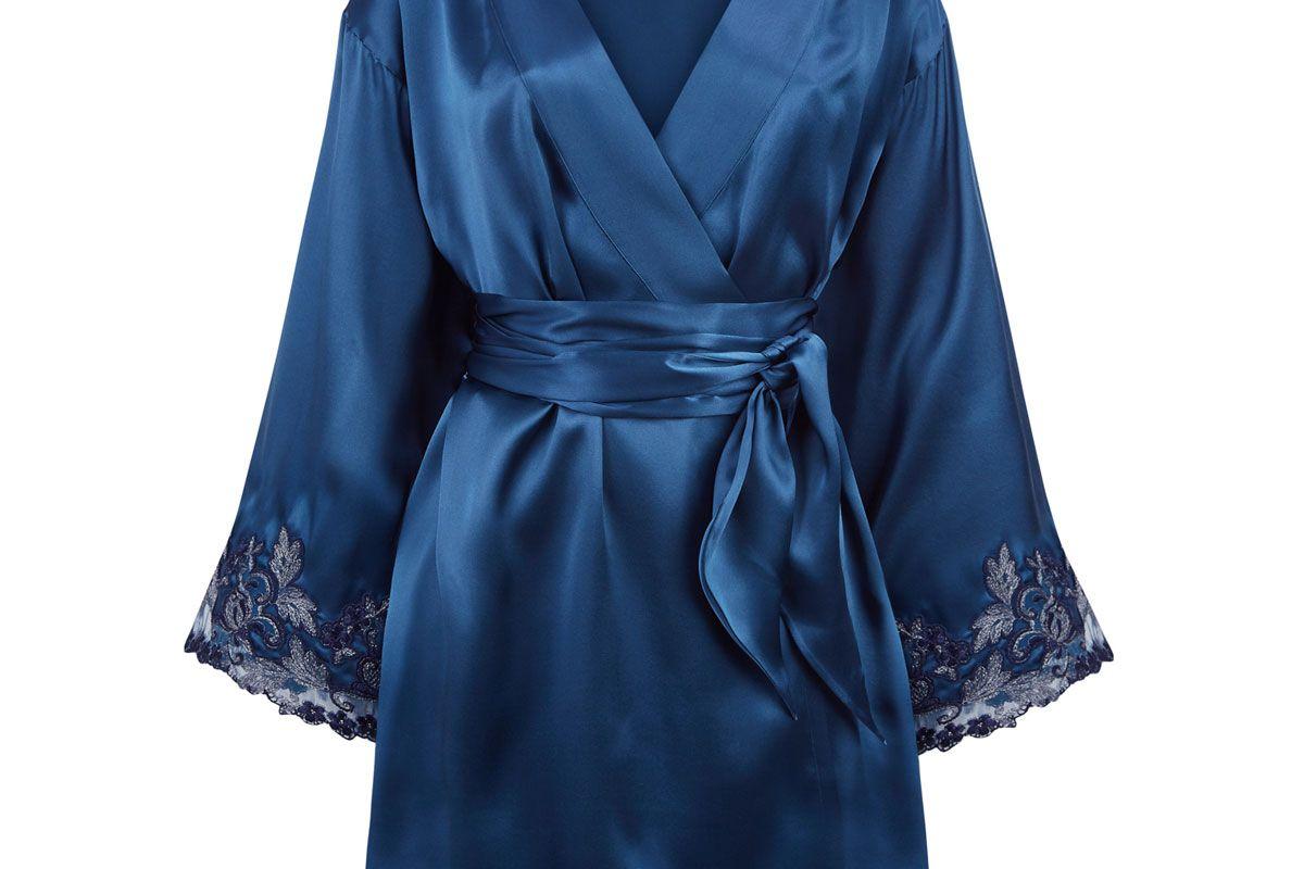 la perla maison silk satin robe