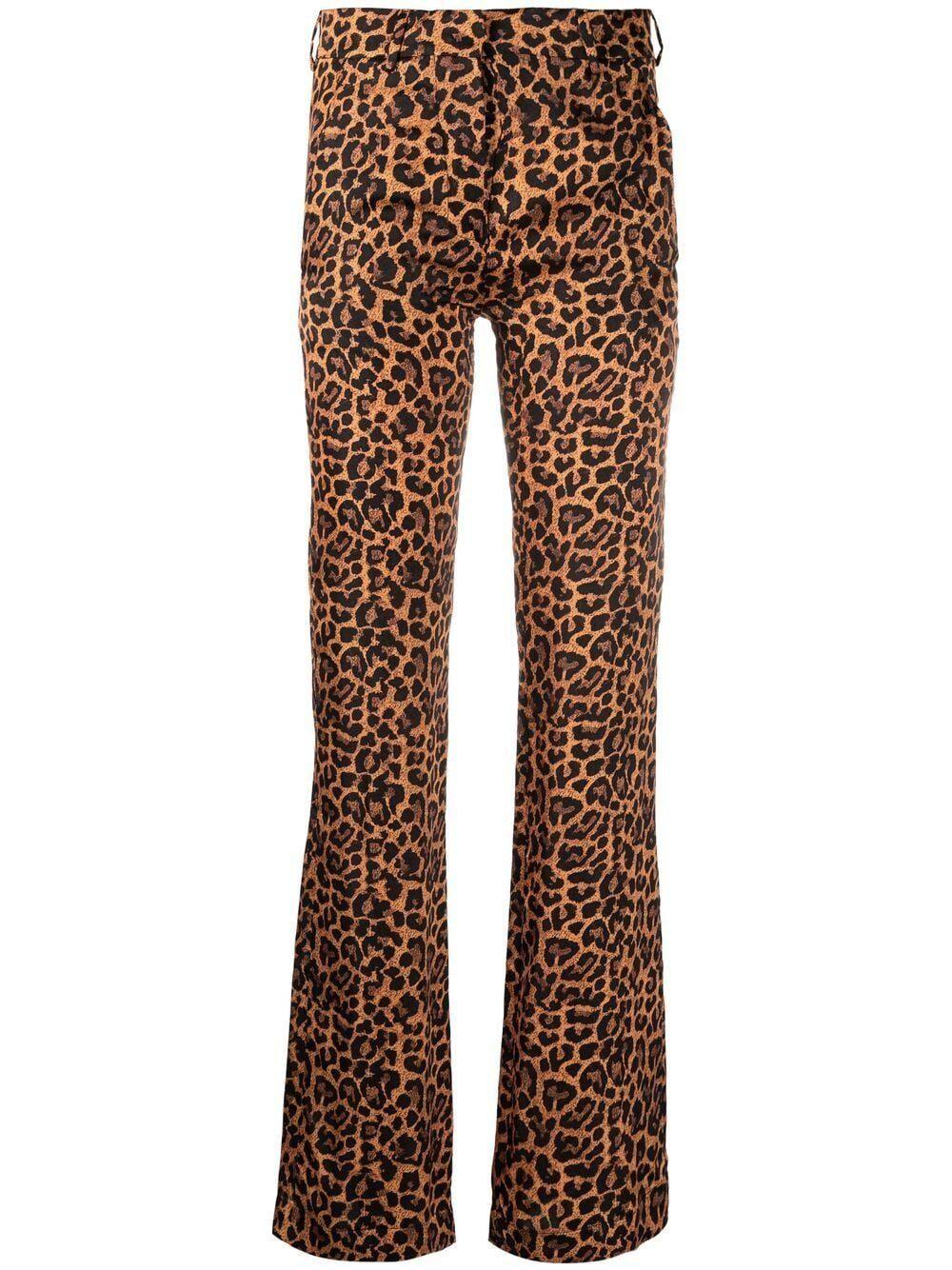 laneus leopard print trousers