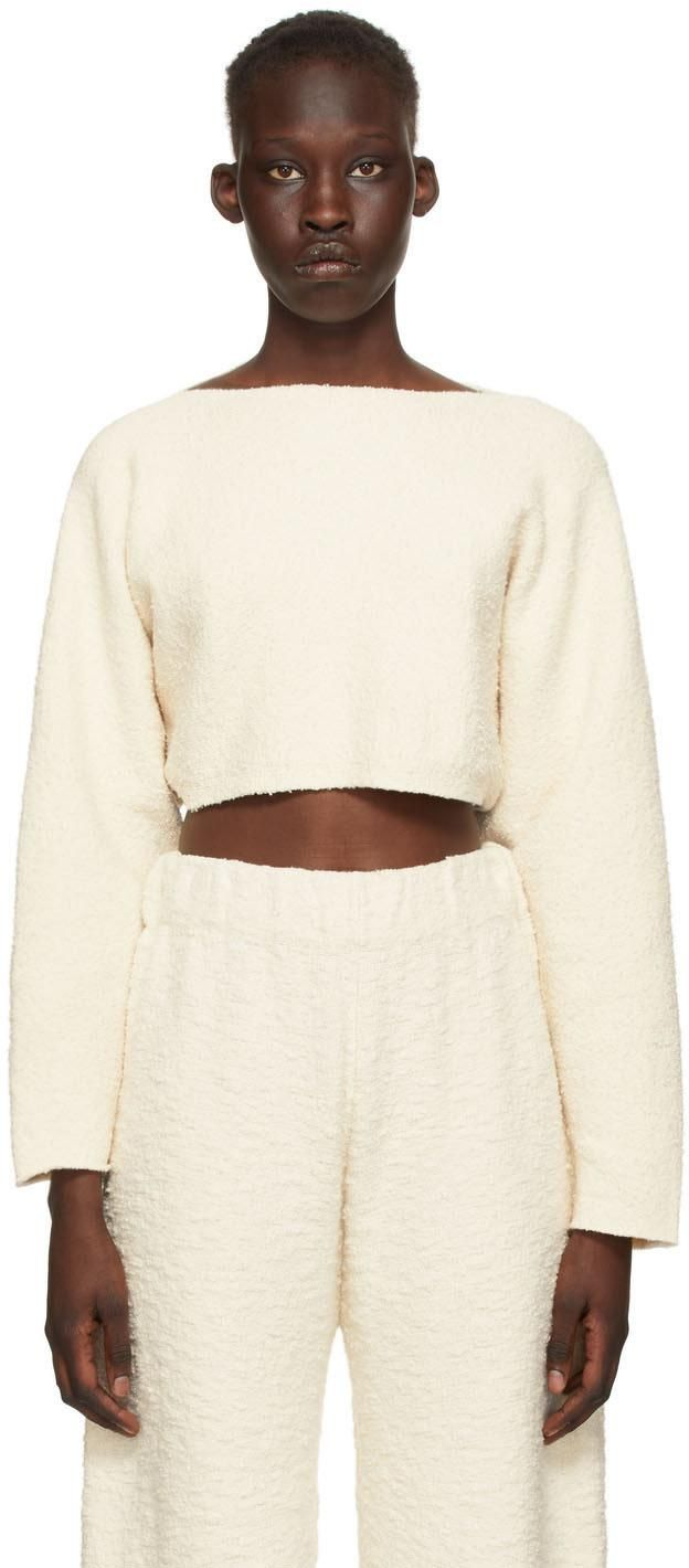 lauren manoogian off white sleeves pullover sweater