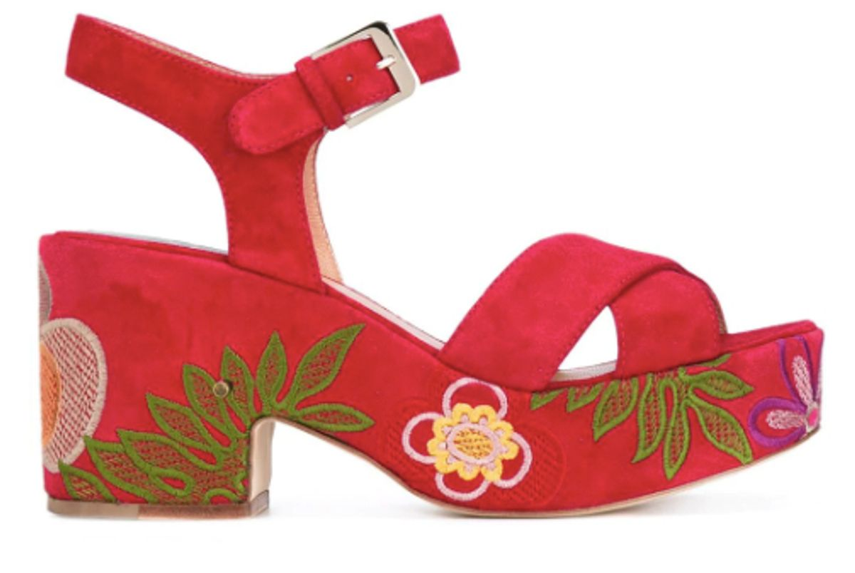 laurence decade nadine floral embroidered sandals