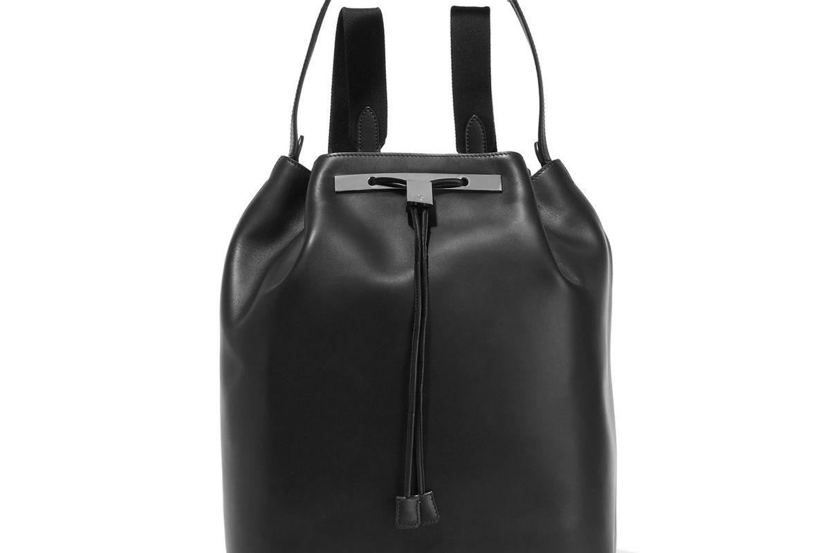 the row leather backpack