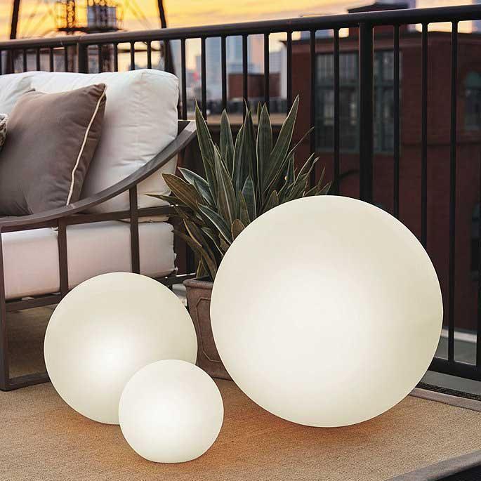 led outdoor illuminated sphere