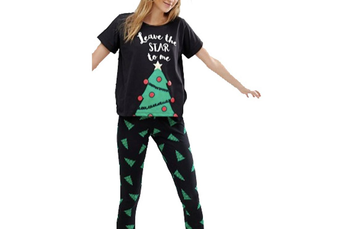 Tall Holidays Leave The Star To Me Tee and Legging Pajama Set